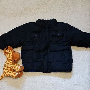 Old Navy Baby boy Puffer Jacket, Navy blue 18_24M